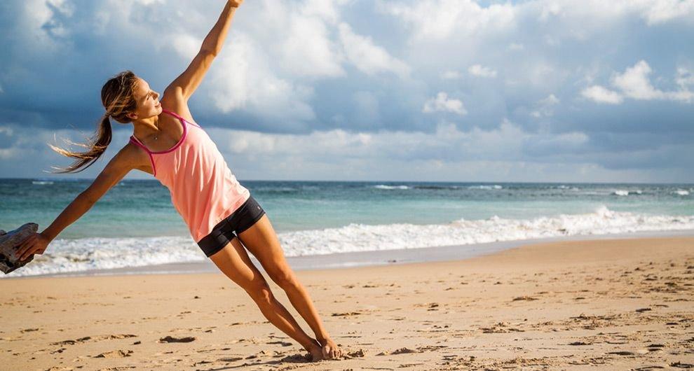 тренировка на пляже