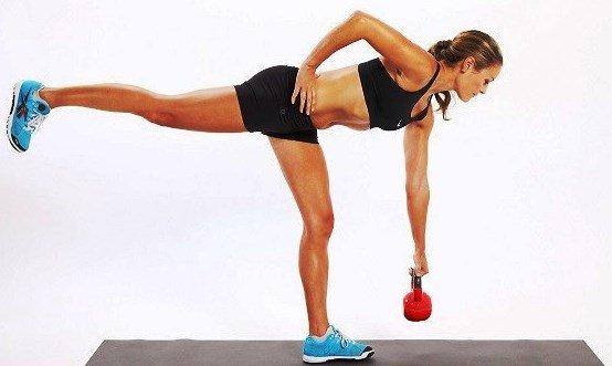 как накачать попу если больные колени