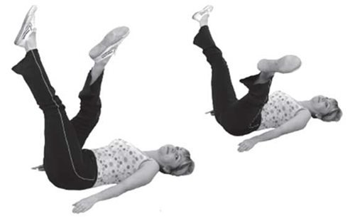 Разведение ног лежа