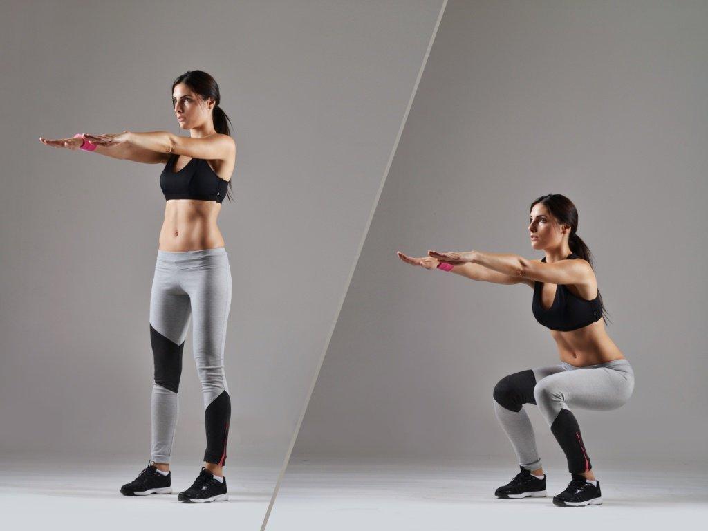 упражнения для просвета между ног