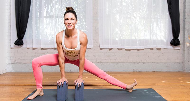 Выпад в сторону из йоги