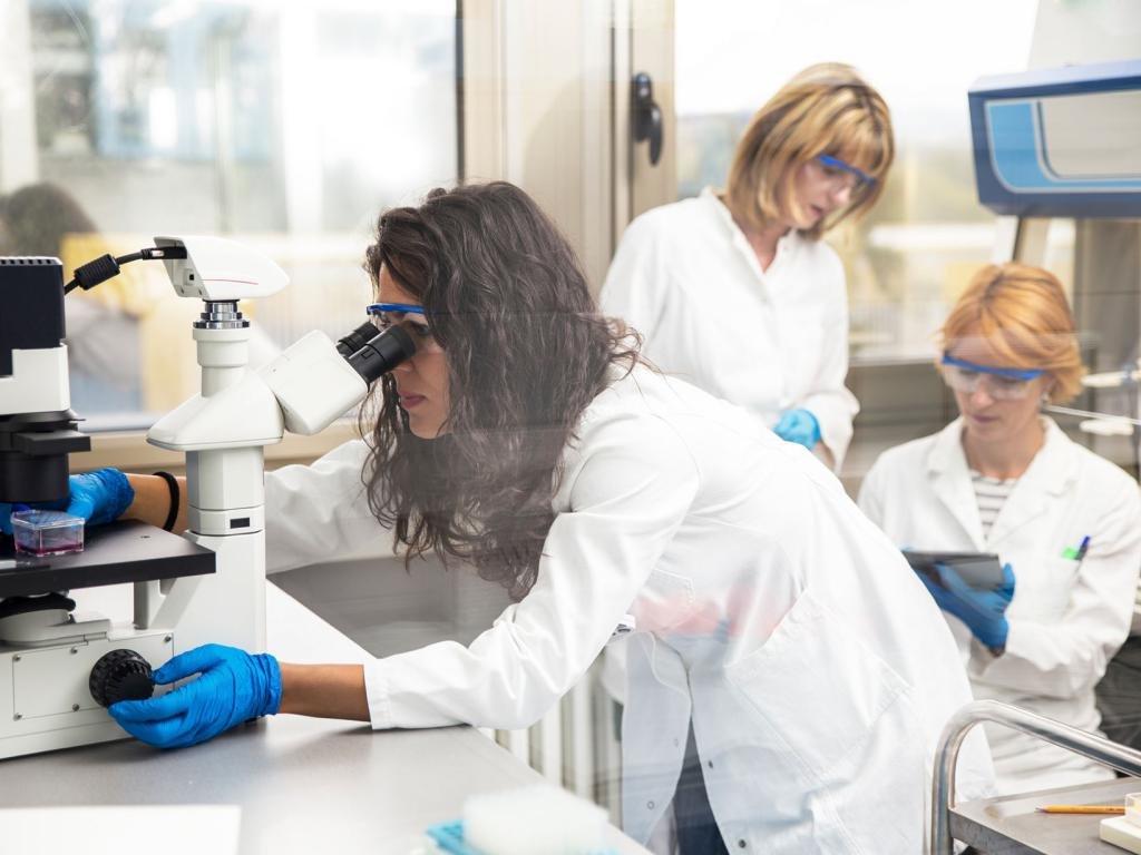Лаборатория косметической компании по исследованию воздействия коэнзима q10 на кожу
