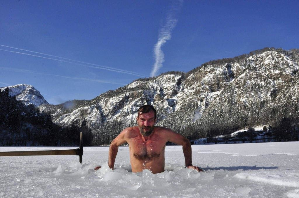 Вим Хоф во льду