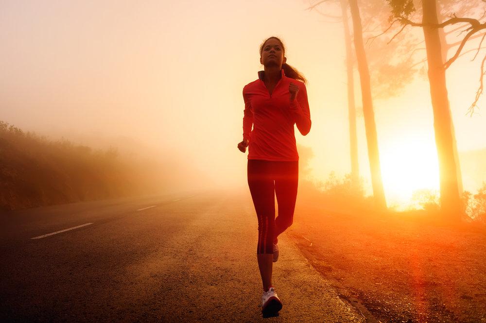 бег рано утром