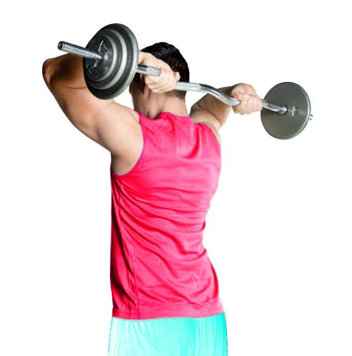упражнения с кривым грифом